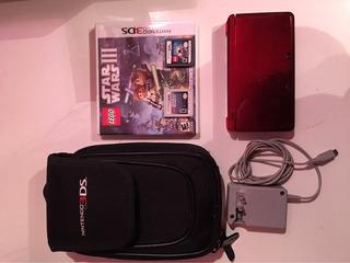 Nintendo 3ds+dos Juegos+funda Para La Consola