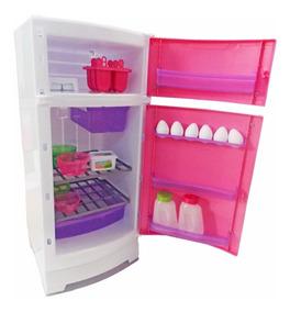 Geladeira Infantil P/ Cozinha Magic Toys Completa Top