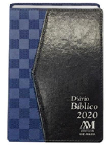 Diario Biblico 2020 Luxo Azul Quadriculado - Ave Maria
