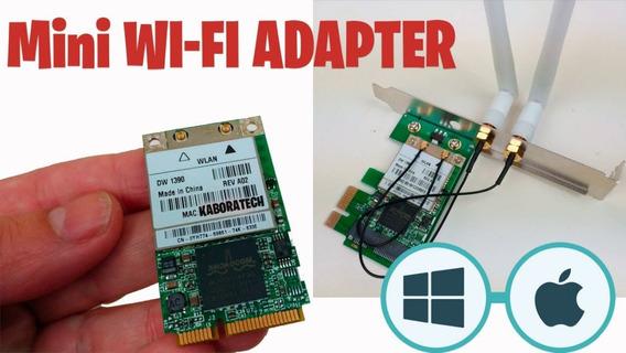 Adaptador Pci-e 1x A Mini-pci 3 Antenas Para Wifi/bluetooth