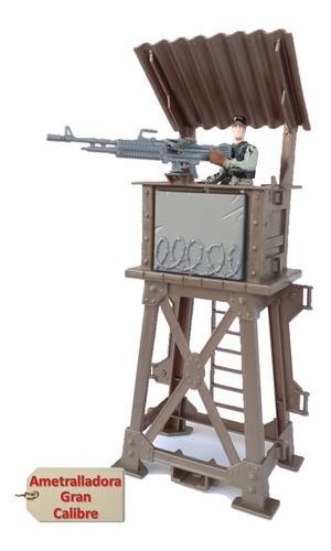 Soldadito Fuerte Torre Base Militar + Kit Armas Y Jeep 4x4