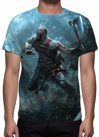 Camisa, Camiseta Game God Of War Estampa Total