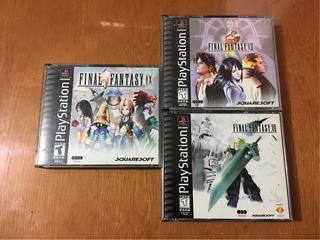 Final Fantasy Vii Viii Ix 7 8 9 Ps1 Ps2 Ps3 Playstation Lote