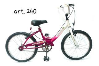 Bicicleta Bassano Cross Niña Rodado 20