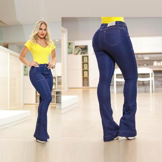 Calça Jeans Feminina Cos Alto Hot Pants Lycra E Elastano