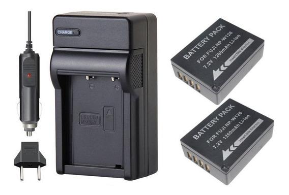 2 Baterias + Carregador Para Fuji X-pro1 Xpro1 Xpro2 X-pro2