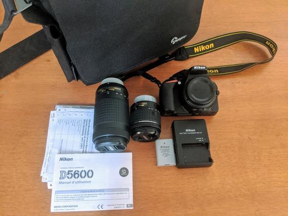 Kit Nikon D5600 + Lentes + Sd 128gb + Bolsa Lowepro