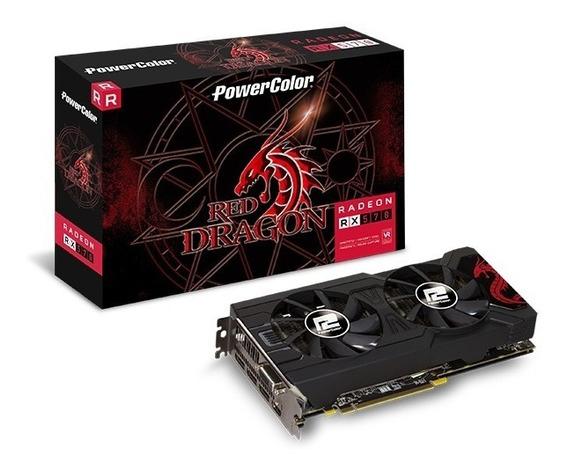 Placa De Vídeo Powercolor Radeon Rx 570 Red Dragon Dual 256