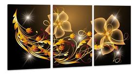 Quadro Canvas 75x150cm Flores Digitais Abstrato Decorativo