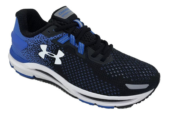 Tênis Under Armour Charged Spread Knit - Preto E Azul C/nf