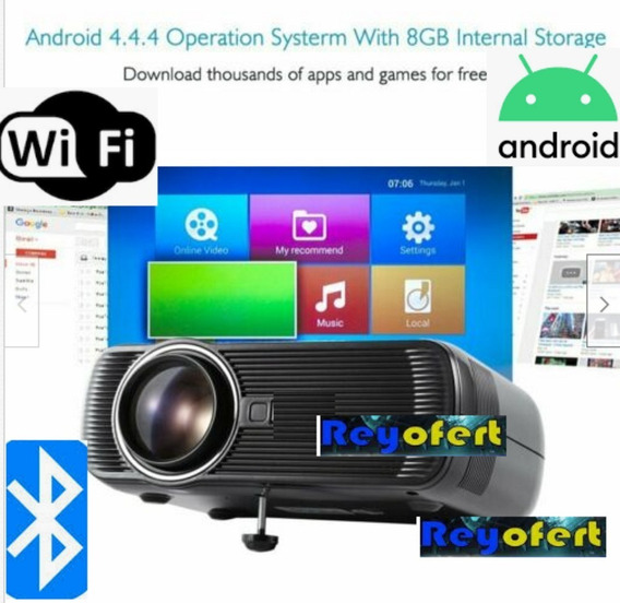 Nuevos Video Beam 130 Pulgadas Con Wifi Android Y Bluetooth