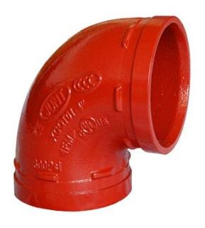 Curva Grooved Vermelho 2.1/2 73mm (cotovelo)