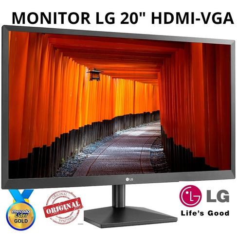 Monitor LG 20mk400h Hdmi-vga Salida Audio, Nuevo,factura