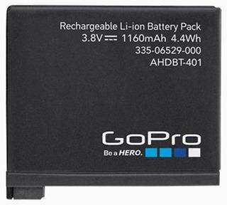 Bateria Go Pro Hero 4 Hd Ahdbt-401 Black Silver Original