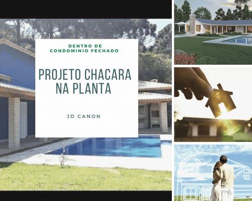 Imagem 1 de 14 de Chácara No Interior De São Paulo Projeto Na Planta
