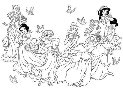 Dibujo Pm Para Colorear Princesas 00100
