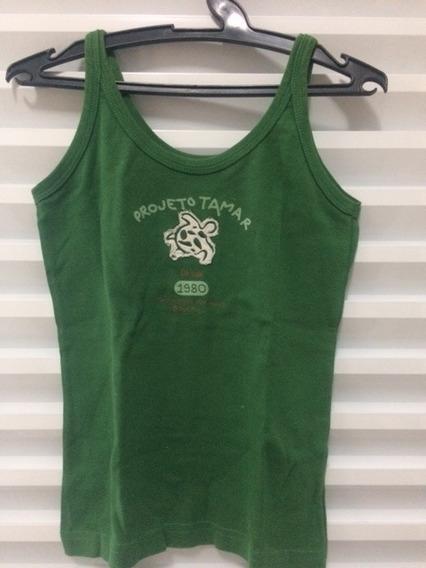 Camiseta Regata Verde Projeto Tamar