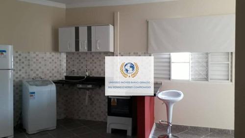 Kitnet Com 1 Dormitório Para Alugar, 25 M² Por R$ 1.000,00/mês - Jardim José Martins - Campinas/sp - Kn0131