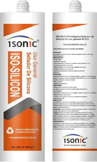 Silicon Profesional Acetico Uso General Transparente 260ml