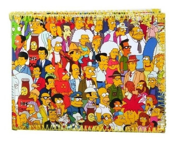 Simpsons Personajes Billetera Con Tarjetero