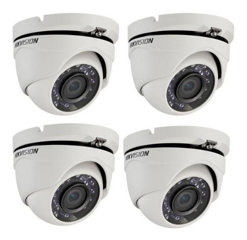 Pack 4 Camara Domo Exterior Hikvision 1080p 2mpx Full Hd