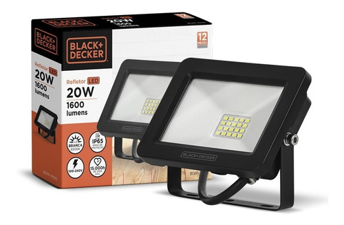 Refletor Led Eco 20w 6500k Ip65 100-240v - Black + Decker