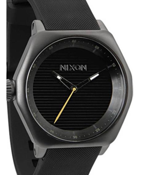 Relógio Nixon Fade To Black Cx Aço Oferta #black Friday#
