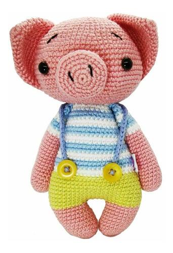 Imagen 1 de 2 de Amigurumi Cerdito Hecho A Mano En Crochet