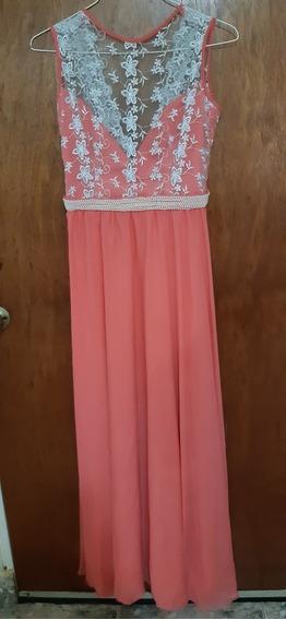 Vestido De Fiesta Largo Para Damas, Color Coral, Talla S