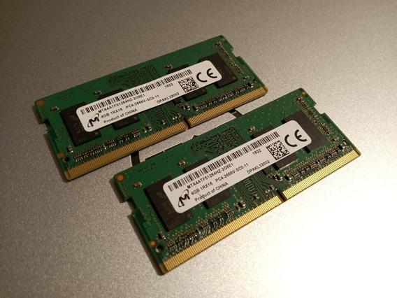 Combo Memorias Ram Ddr4 Micron 8gb (2x4gb) Pc4-2666