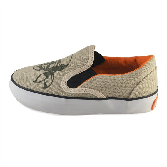 Pancha Calavera Beige Small Shoes