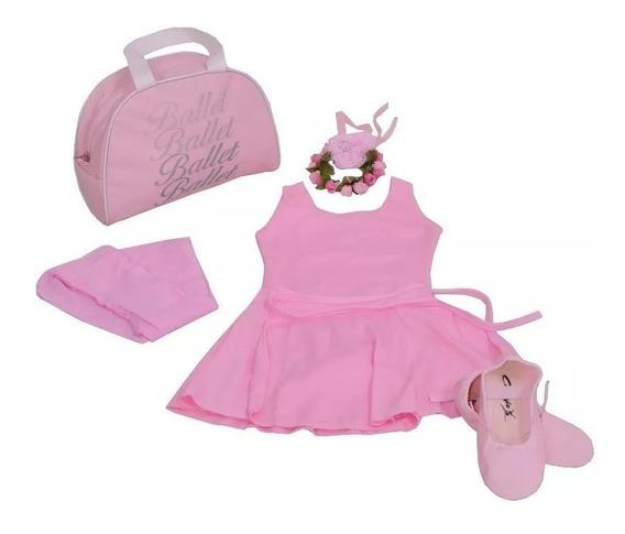Roupa Para Ballet Completa Infantil E Bolsa