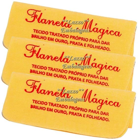 Flanela Magica Original Limpa Ouro Prata E Folheado 10pçs