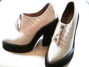 Zapatos Botinetas 100 % Cuero Jeffrey Campbell -no Envio