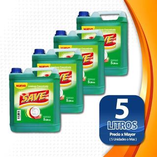 Pack De 4 Lavalozas Concentrado 5 Litros