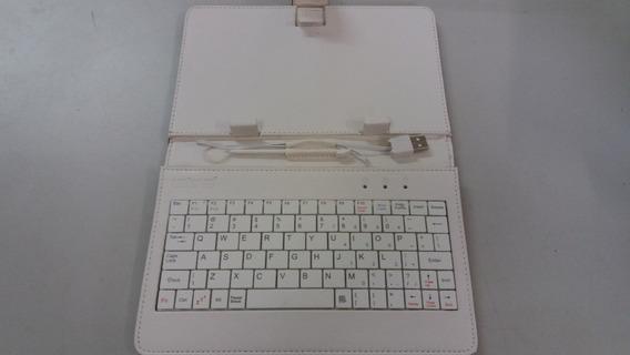 Capa Tablet Teclado Usb Caneta 23,5 E 11,0x12,5 Cm Oncinha
