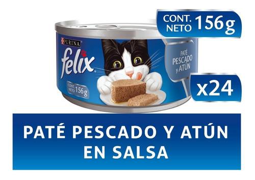 Pack Felix® Adultos Paté Pescado Y Atún En Salsa 156 Gr