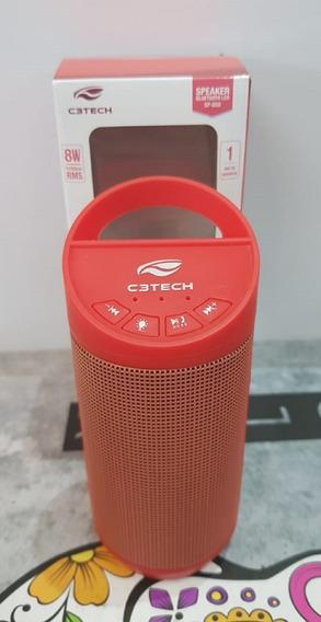 Caixa De Som Bluetooth 8w Rms Sp-b50bk Usb C3 Tech