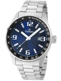 Relógio Champion Masculino Prata Analógico Ca31622f Barato