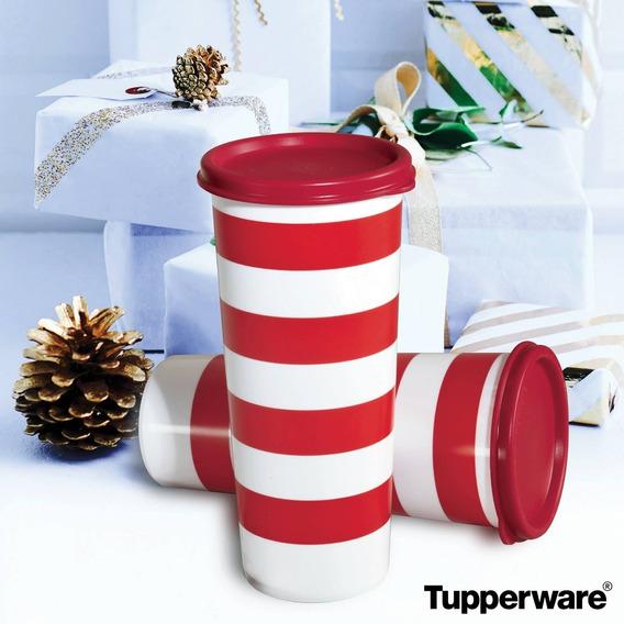 Tupperware Set Vasos Rayados
