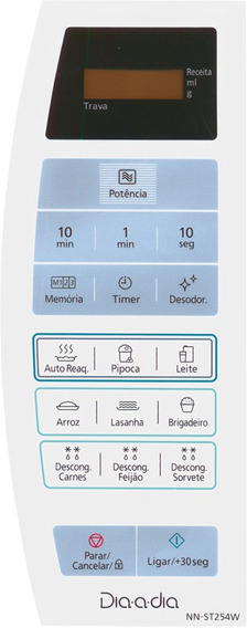 Membrana Teclado Microondas Panasonic Nn-st254w