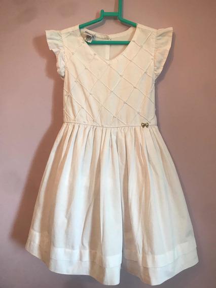 Vestido Branco Infantil Tamanho 6 Anos