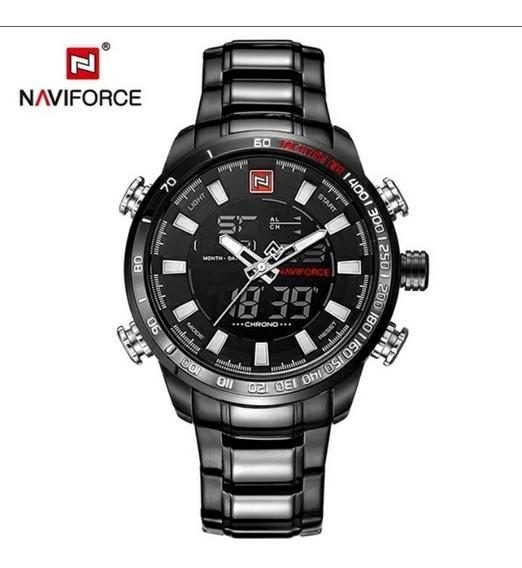 Relógio Esportivo Preto Naviforce