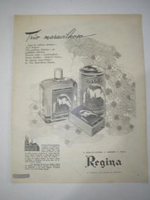 L - 290/ Gkrm320 Propaganda Antiga Cosméticos Regina