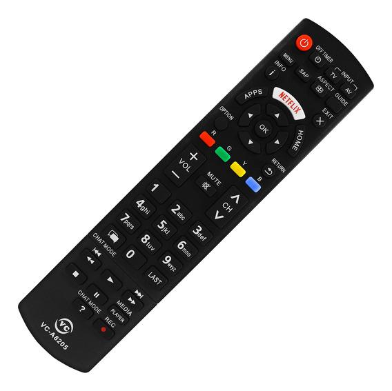 Controle Remoto Compatível Com Tv Panasonic Smart Vc-8205