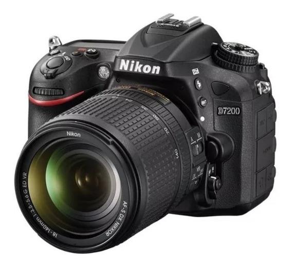 Camera Dslr Nikon D7200 Otimo Estado Com Lente 18-140mm