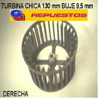 Turbina Purificador 130 Mm Chica Buje 9,5mm Derecho Alto 6.5