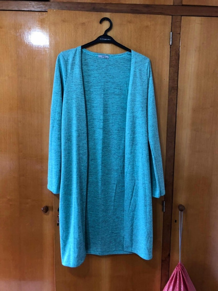 Saco Cardigan Sweater Largo Tapado Ayres Talle L (w)