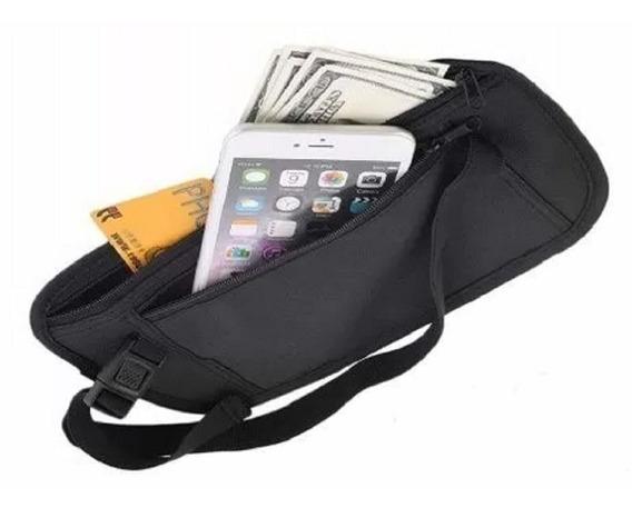 Pochete Porta Dólar - Viagem Passaporte Celular E Documentos