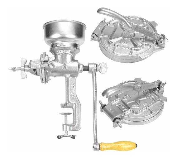 Molino Para Granos De Aluminio + Tortilladoras Estrella